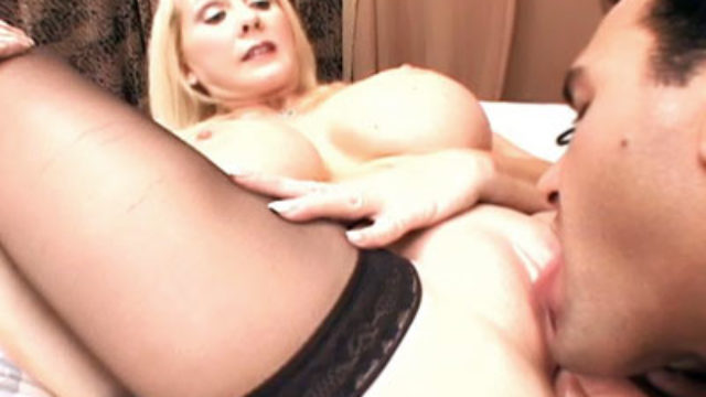 Buxomy Mature Ash-blonde Provides Her Puss
