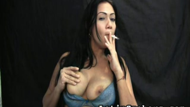 Huge-boobed Cougar Smoking Fetish Fashion