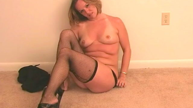 Fine Light-haired Wifey Tessa Undressing Ebony Lingeria And Taunting Us Together With Her Pantyhose