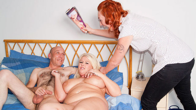 Gigantic Blondie Does Jerking Fellow