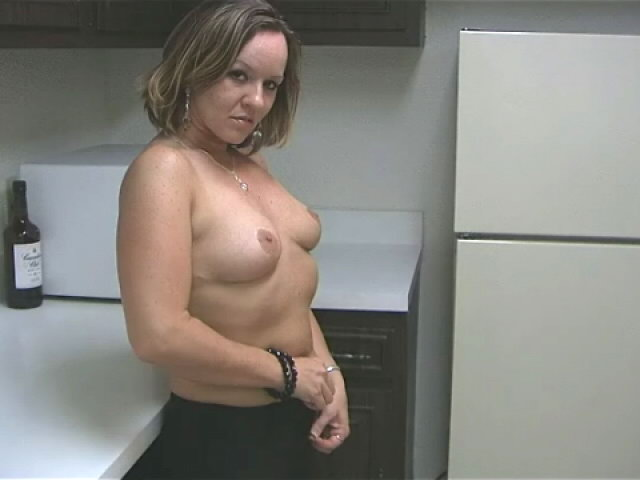 Sensual Ash-blonde Wifey Tessa Kneading Her Uber-sexy Assets With Fervor Within The Kitchen